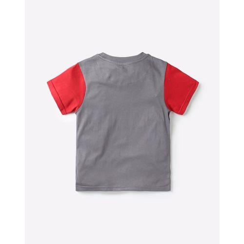 AJIO Typographic Print T-shirt & Pyjamas Set