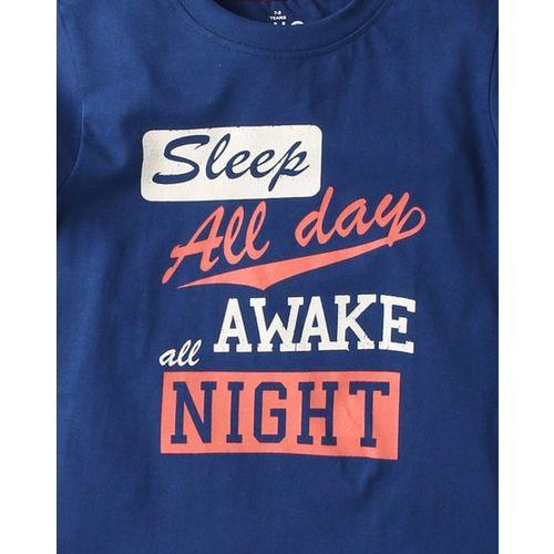AJIO Typographic Print Nightsuit Set