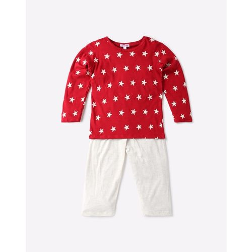 Funkrafts Star Print T-shirt and Lounge Pants Set