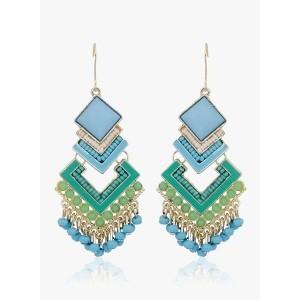 Crunchy Fashions Blue/Green Alloy Danglers & Drop