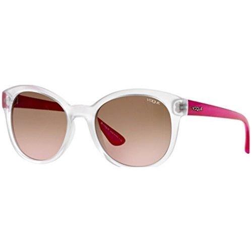 Vogue Gradient Transparent Demi Shiny Rectangular Sunglasses