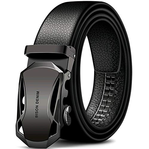 Wild Dragon Men's Fashion Leather Belts with Automatic Ratchet Buckle belt
