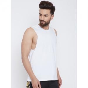 Fugazee Solid Men's Scoop Neck White T-Shirt