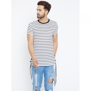84bf9581d2 Buy United Colors of Benetton. Striped Men's Round Neck White, Blue ...
