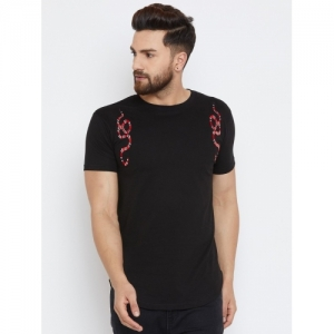 Fugazee Solid Men Round Neck Black T-Shirt