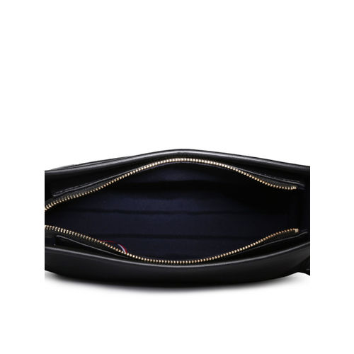 Tommy Hilfiger Black Solid Sling Bag