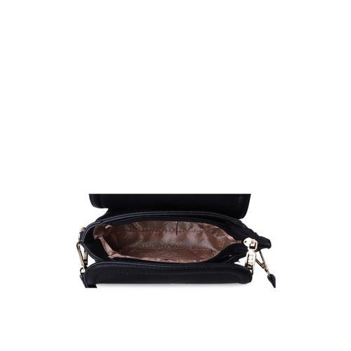 Elle Black Solid Sling Bag