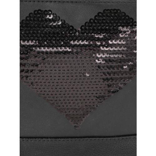 DressBerry Black Sequinned Sling Bag