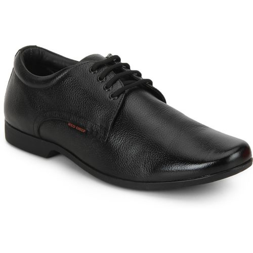 Red Chief RC3455 001 Derby For Men(Black)
