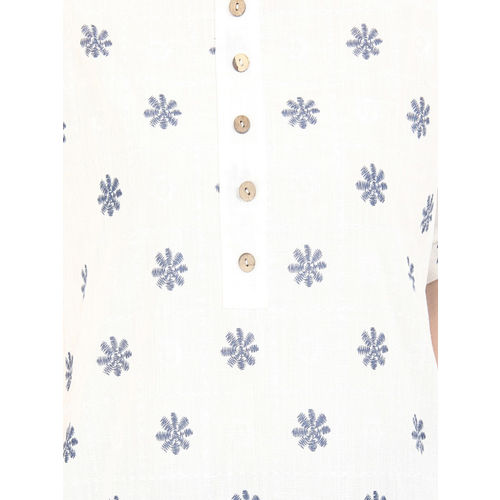 SILOUETTES Women White Embroidered Straight Kurta