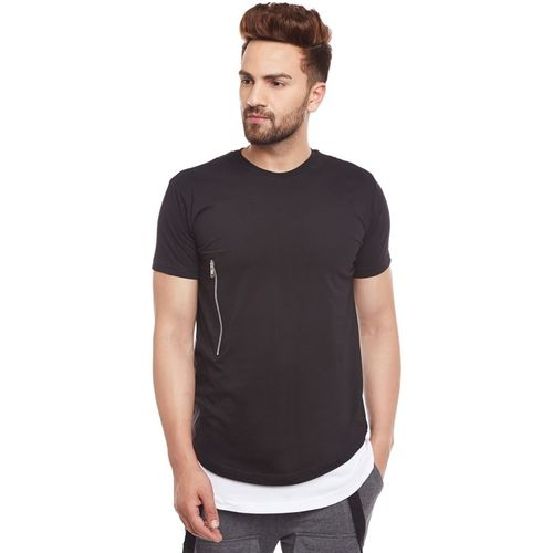 Fugazee Solid Men Round Neck Black T-Shirt