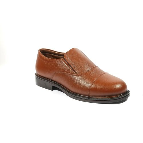 ICEBULL LEATHER POLICE SHOES Slip On For Men(Brown)