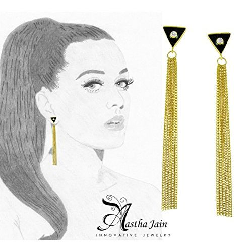 Aastha Jain Sterling Silver(18k gold plated) Earring For Women