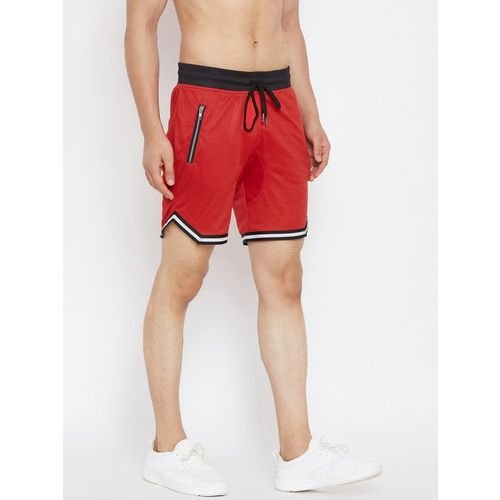 Fugazee Solid Men Red Regular Shorts