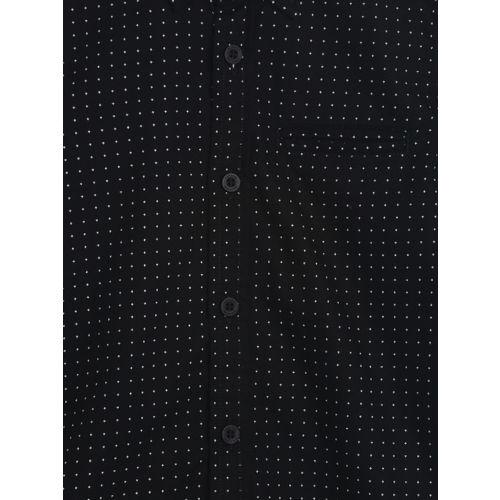 Flying Machine Boys Black Regular Fit Printed Casual Shirt