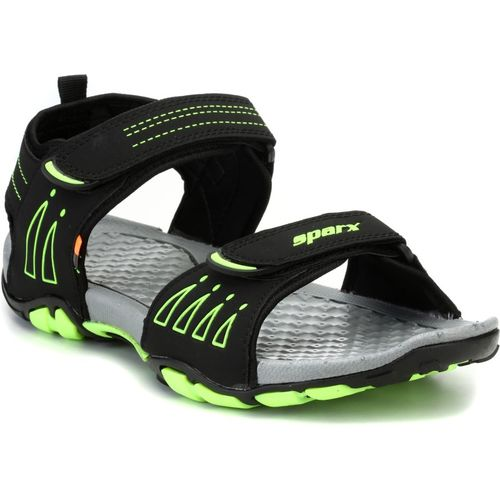 Sparx Men Black Green Sports Sandals