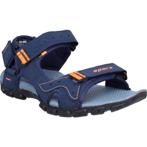 Sparx Men NavyBlueFluorescentOrange Sports Sandals