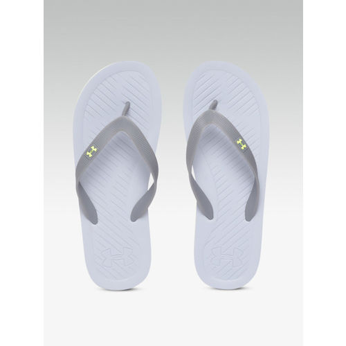 UNDER ARMOUR Men Grey AtlanticDune Thong Flip-Flops