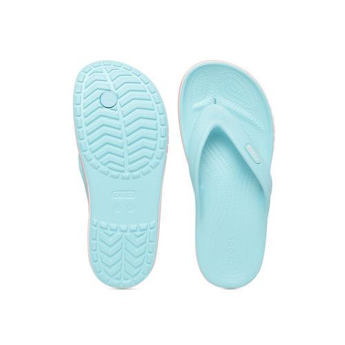 Crocs Unisex Blue Solid Thong Flip-Flops