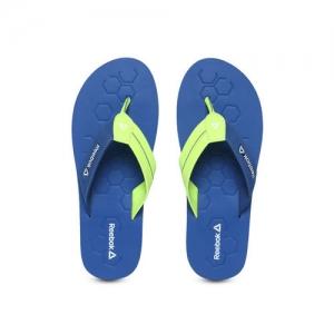 Reebok Men Lime Green & Blue PRONTO Thong Flip-Flops