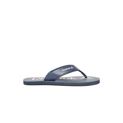 Reebok Men Navy Blue Printed Thong Flip-Flops