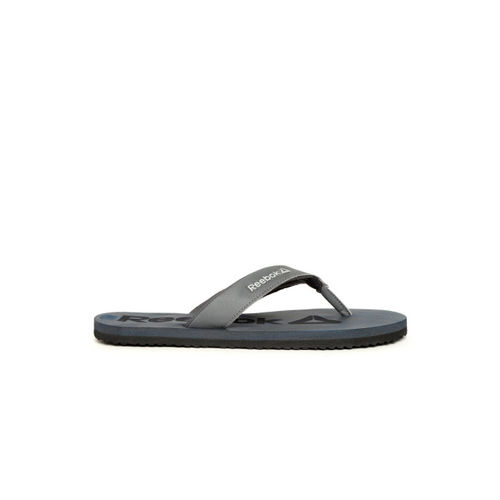 Reebok Men Navy Blue Self Design Thong Flip-Flops