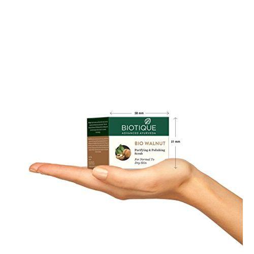Biotique Bio Kelp Fresh Growth Protein Shampoo, 400ml and Biotique Bio Walnut Purifying & Polishing Scrub For Normal To Dry Skin , 50G