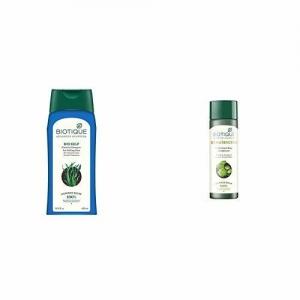 Biotique Bio Kelp Fresh Growth Protein Shampoo, 400ml and Biotique Bio Watercress Fresh Nourishing Conditioner, 120ml