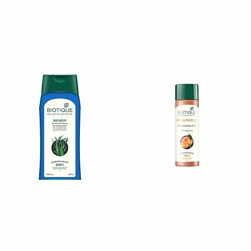 Biotique Bio Kelp Fresh Growth Protein Shampoo, 400ml and Biotique Bio Apricot Refreshing Body Wash, 190ml