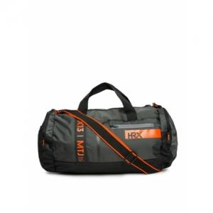 HRX by Hrithik Roshan Black Polyester Duffel Bag