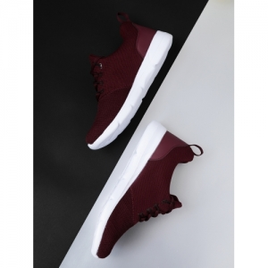 Crew STREET Maroon Synthetic Lace Up Sports Shoes