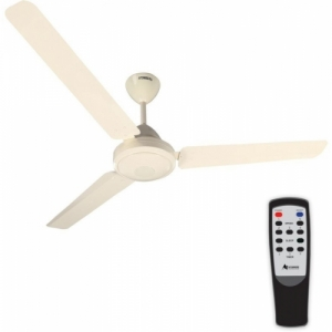 Gorilla Efficio Energy Saving 5 Star Rated, Remote Control and BLDC Motor,1400mm 3 Blade Ceiling Fan(Ivory, Pack of 1)