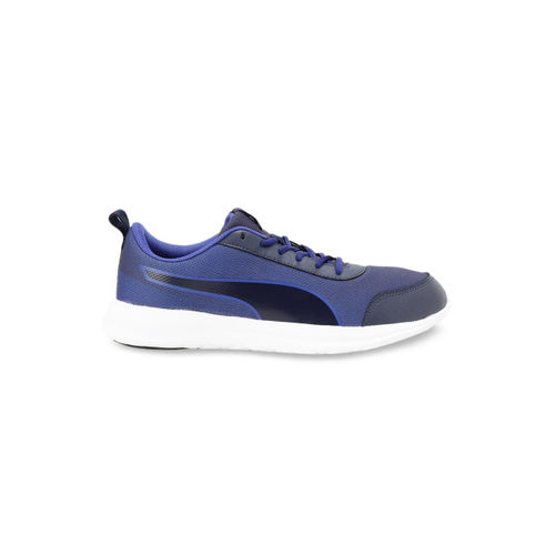 Puma Men Navy Blue Mesh Mid-Top Running Shoes