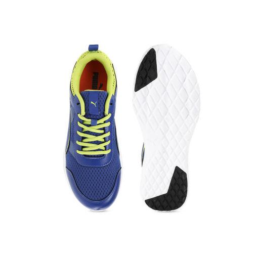 Puma Men Blue Mesh Mid-Top Running Shoes