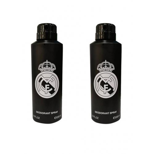 Real Madrid Unisex Pack of 2 Black Deodorant 200ml each