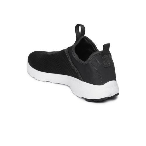 Reebok Charcoal Grey One Rush Slip On Running Shoes