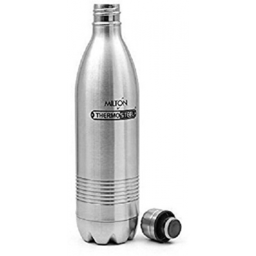 Milton Silver ThermoSteel Duo Deluxe Hot & Cold 24HRS 500 ml Flask(Pack of 1)