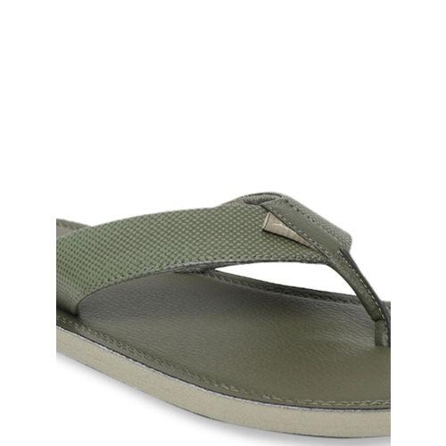Puma Men Olive Green Solid Thong Flip-Flops