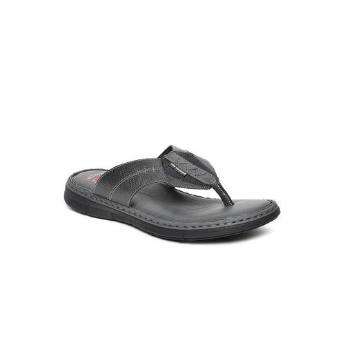 Lee Cooper Men Grey Solid Thong Flip-Flops