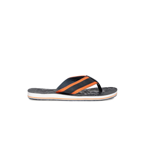 Superdry Men Navy Blue & Orange Roller Thong Flip-Flops