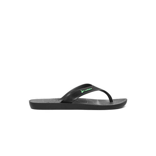 Rider Men Black Solid Thong Flip-Flops