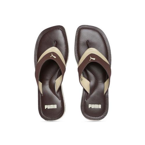 Puma Men Brown Solid Thong Flip-Flops