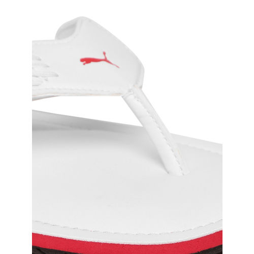 Puma Men Grey Solid Thong Flip-Flops