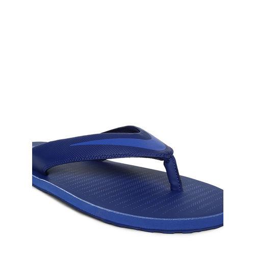 Nike Men Blue Solid CHROMA Thong Flip-Flops
