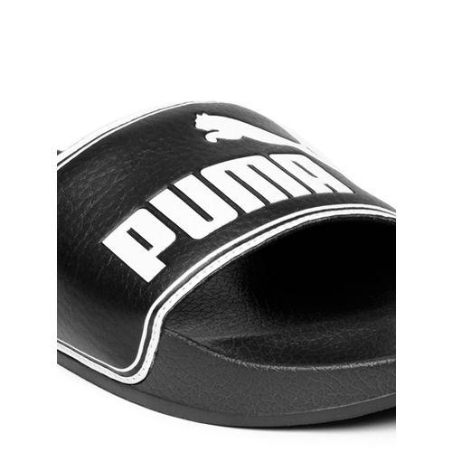 PUMA Men Black Leadcat Printed Flip-Flops