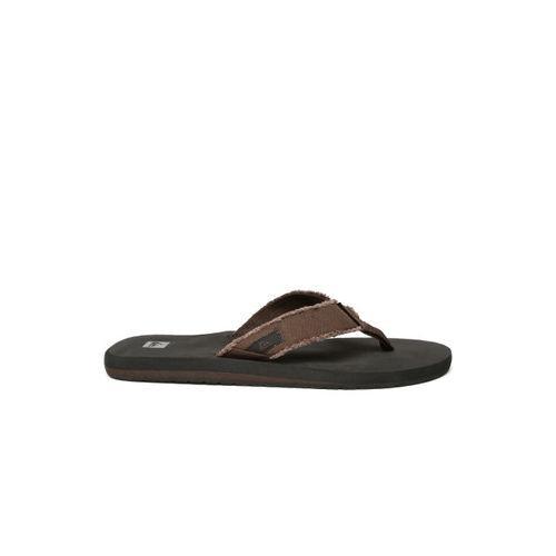 Quiksilver Men Brown & Black Flip-Flops