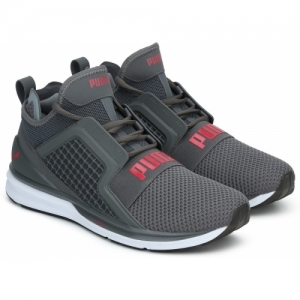 Puma Grey Mesh Lace Up Walking Shoes