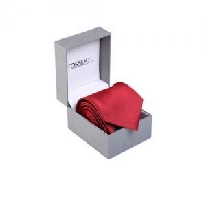 Tossido Maroon Solid Broad Tie