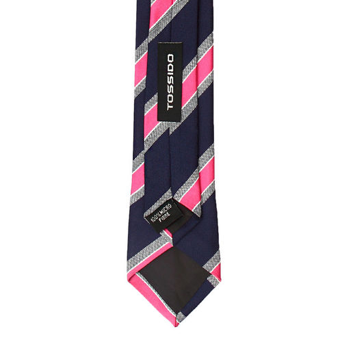 Tossido Blue & Pink Striped Tie