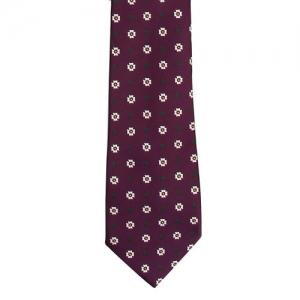 Tossido Purple Printed Broad Tie